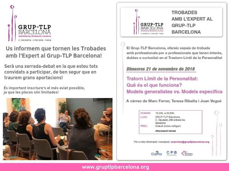 Tornen Les Trobades Amb L'expert Al Grup-TLP Barcelona