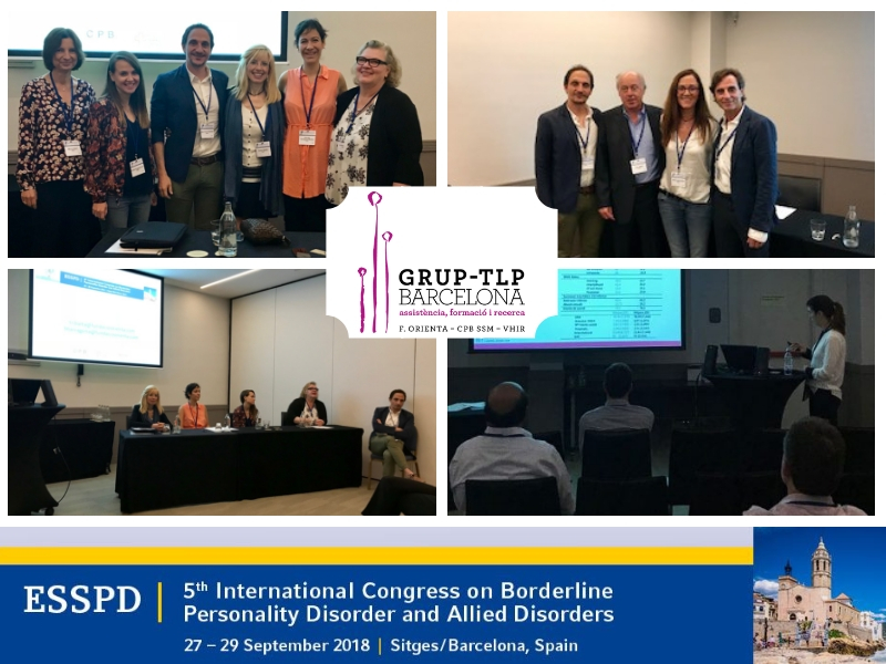 Grup-TLP Barcelona In The 5th Borderline Congress Of The European Society For The Study Of Personality Disorders (ESSPD)